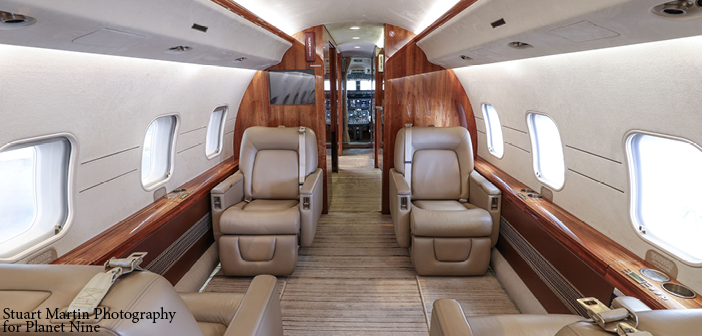Planet 9's new managed Global Express seats up to 13 passengers and accommodates six for sleeping