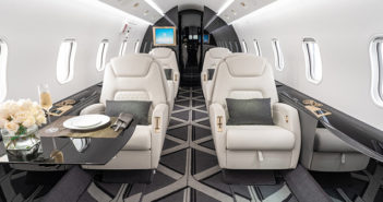 One of Jet Edge's Bombardier Challenger aircraft