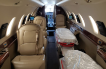 The interior of Amref Flying Doctors' Cessna Citation Sovereign