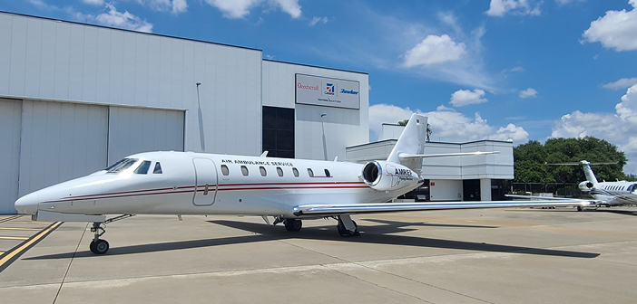 The Cessna Citation Sovereign joining the Amref Flying Doctors fleet