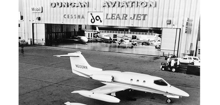 The Duncan Aviation facility in Lincoln, Nebraska, in 1967