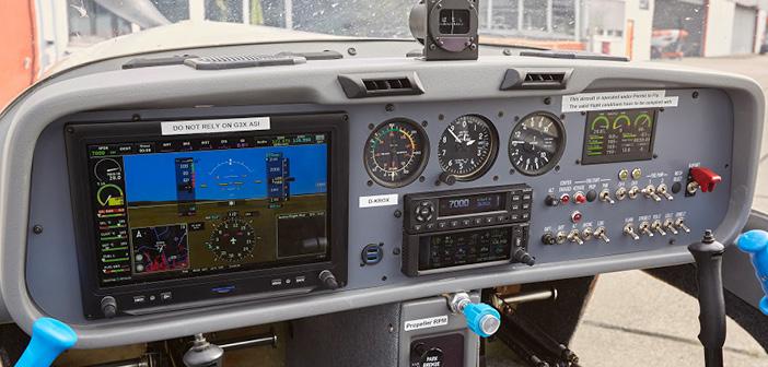 The Grob G109B Able features Garmin glass cockpit avionics