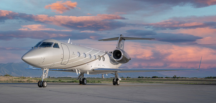The exterior of one of Jet Edge's Gulfstream aircraft