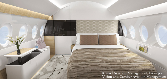The A220 cabin concept's private suite
