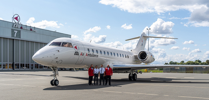 The Global Express FAI has assigned to support ultra-long-range air ambulance missions