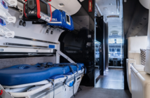 The interior of FAI's Global Express dedicated to ultra-long-range air ambulance missions