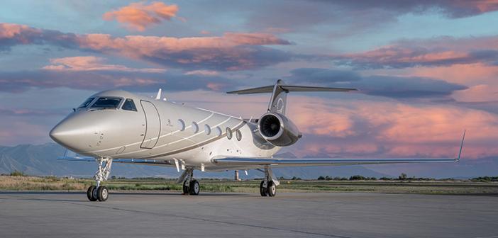 A Jet Edge branded Gulfstream