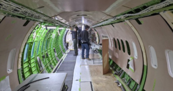 A Q400 multi-role interior project in progress at Flying Colours