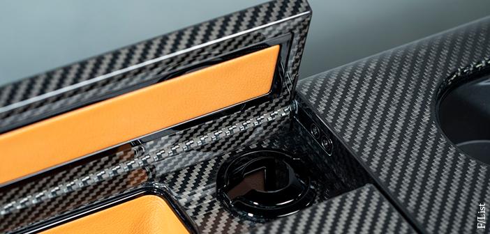 F/List carbon fibre surface decoration
