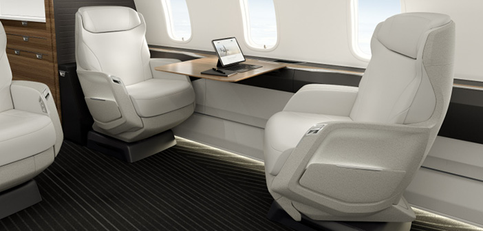 The Challenger 3500 seats