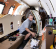 flyExclusive now has facilities for electrostatic painting and coating along with aircraft interior renovation and refurbishment